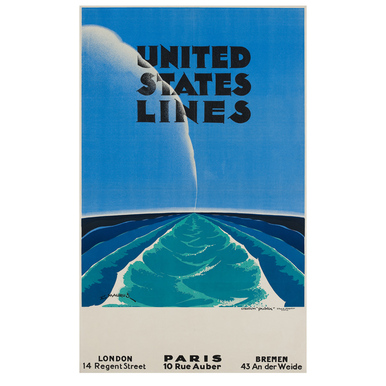 United States Lines | Advertising Poster 1935 | Artikelnummer: POD-PI-4448-A4S