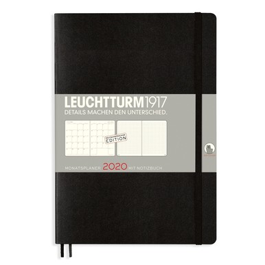 2020 Leuchtturm 1917 Monatsplaner B5 Notizbuch / Monthly Diary Notebook | Deutsche Edition / German Edition | Artikelnummer: 360035_Moka