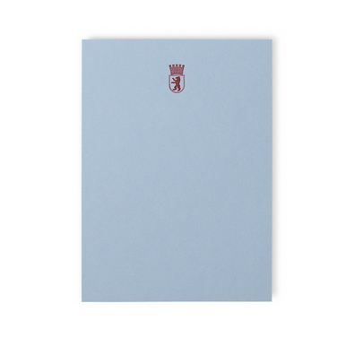 Berlin Block hellblau | Berlin Notepad Light Blue | Artikelnummer: mzs-baer