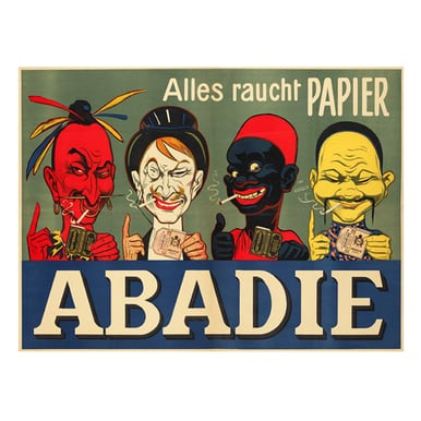 Abadie-Alles raucht Papier | Advertising Poster around 1905 | Artikelnummer: POD-PI-2731-A2