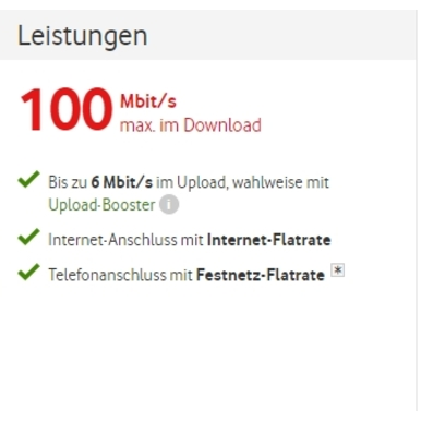 Red Internet & Phone 100 Cable | + WLAN-Kabelrouter kostenlos | Artikelnummer: 6002