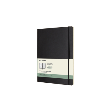 2020 Moleskine Weekly Notebook XL | Softcover, schwarz / black | Artikelnummer: 628936-soft