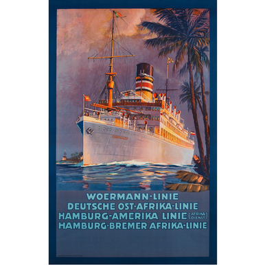 Advertising Poster 1915 | Woermann-Linie | Artikelnummer: PODE-PI-529-A4S