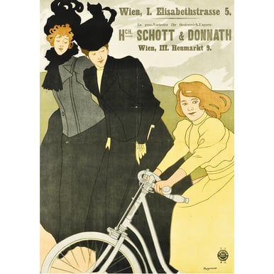 Advertising poster 1899 | Schott und Donnath bicycles | Artikelnummer: PODE-PI-2794-A2
