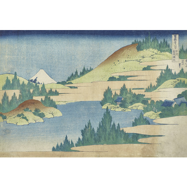 Thirty-six Views of Mount Fuji | Sea at Hakone in Sagamin province | Artikelnummer: PODE-KI-10992-A4S