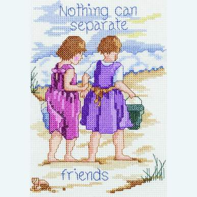 Nothing Can Separate Friends - borduurpakket met telpatroon Janlynn |  | Artikelnummer: jl-021.1052