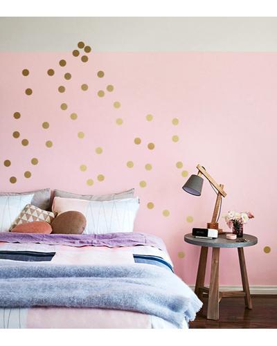 Wandsticker Dots Gold 60er Set Wandtattoo Punkte