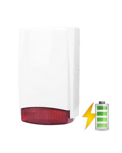 Wireless outdoor siren in plastic housing - battery power with radio transmitter |  | Code: 8081