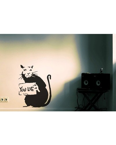 Wandsticker BANKSY YOU LIE Wandtattoo Ratte Streetart Sticker  |  | Artikelnummer: 70900739
