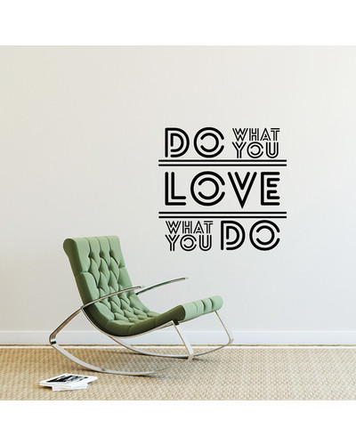 DO WHAT YOU LOVE Wandtattoo WallART Retro Sticker  |  | Artikelnummer: 55838779