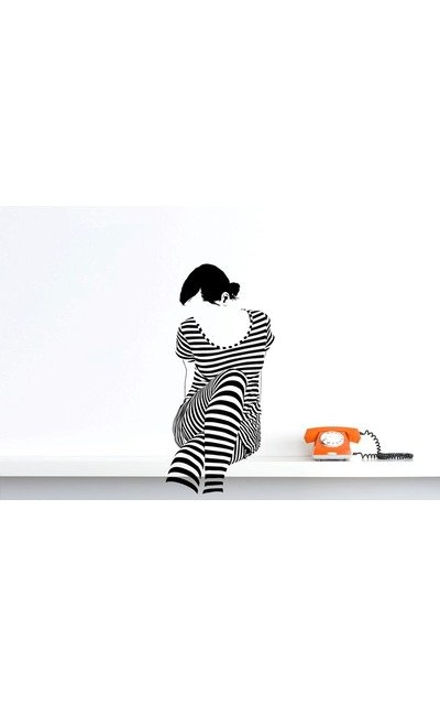 WHITE STRIPES GIRL Wandsticker Wall Art Wandtattoo  |  | Artikelnummer: 57319543