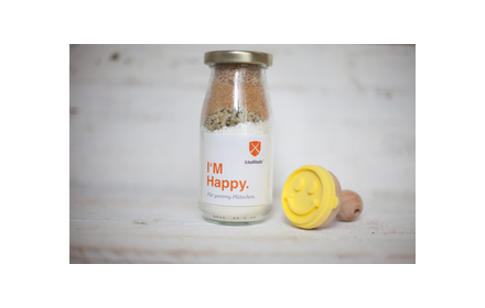 I'M Happy Keksmischung mit Smiley-Stempel