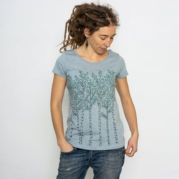 Björkar T-Shirt | heather ice blue | artikelnummer: Cmig192