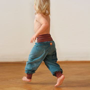 Baby Nickihose | seagreen/orange-navy | Artikelnummer: Cmig434