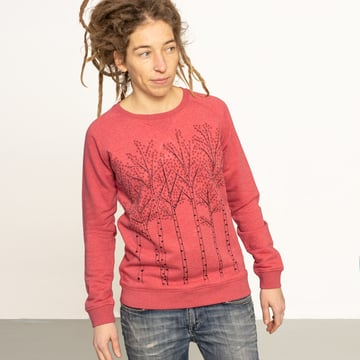 Björkar sweatshirt L, XL | heather cranberry | artikelnummer: Cmig188