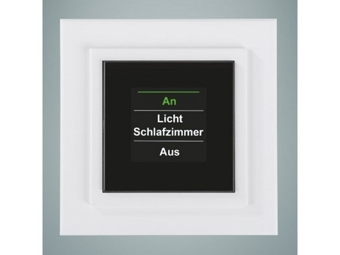 HomeMatic Funk-Display-Wandtaster mit Display | Aufputzmontage | Artikelnummer: 85975