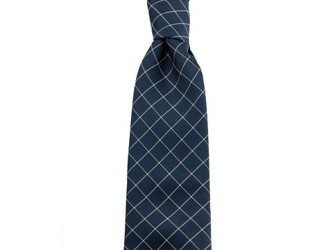 Three-Fold-Tie Navy Chriscross | Product code: 6000
