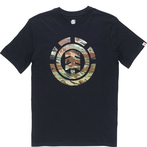Element Sawtooth Herrenshirt T-Shirt flint black