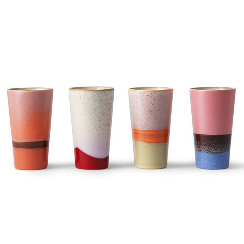 HK Living ceramic 70´s Keramikbecher - latte mugs