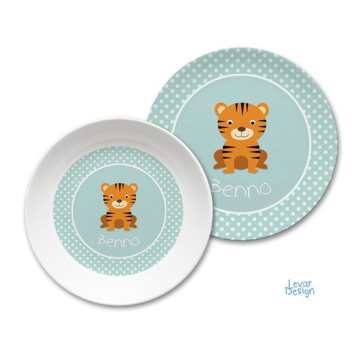 Kindergeschirr Set Dots mint |  | Artikelnummer: 121091955 -2