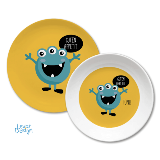 Kinder Geschirr Monster  |  | Artikelnummer: 123321659 -1