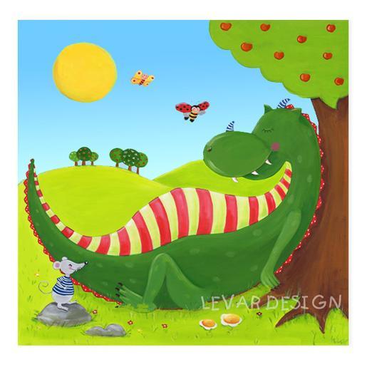 Kunstdruck Drache Kinderzimmerbild Poster - Kinderzimmer bilder ...