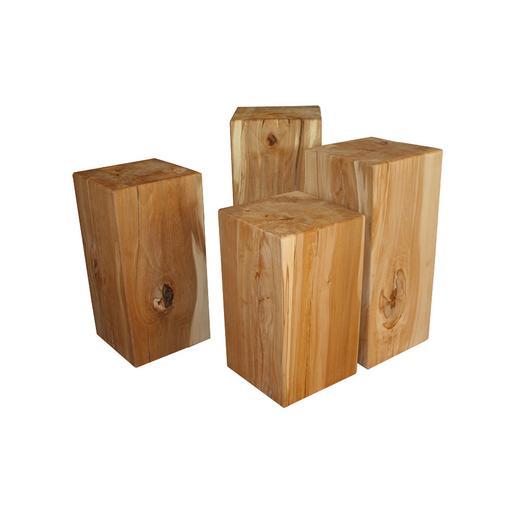 holzblock kernbuche massivholz klotz hocker buche. Black Bedroom Furniture Sets. Home Design Ideas