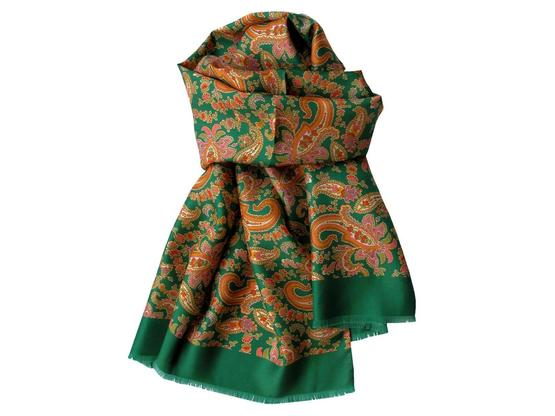 Scarf Green Paisley | Product code: 13002