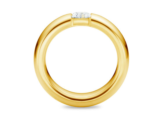 Diamantring Form 0.50 Karat in Premium Qualität | 750er Gelbgold - Brillant in G - VS1 | Artikelnummer: FORGG050G