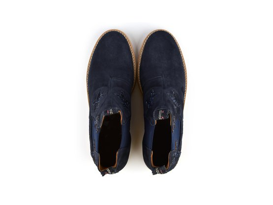 JULIA Beach Navy | Chelsea Boot. Velours Leder. Urlaubsstimmung. | Artikelnummer: Torrent13353951_40