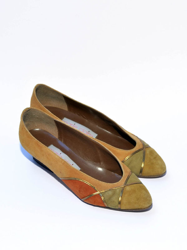 Vintage Pumps Wildleder