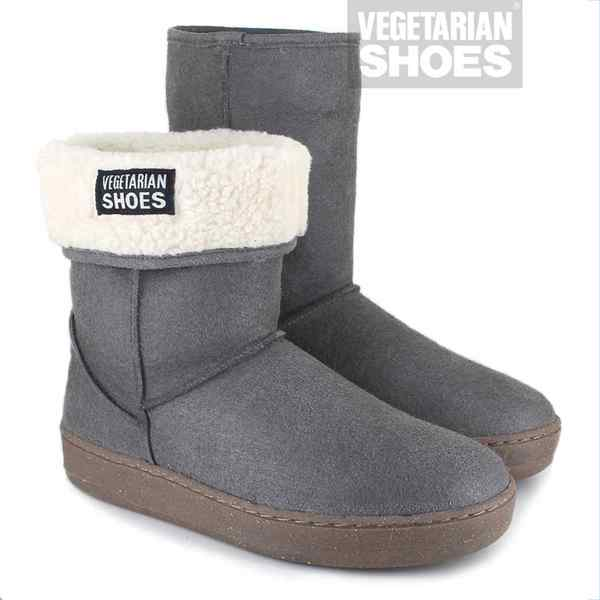 VEGETARIAN SHOES Winterstiefel SNUG/SNUGGE BOOT grey