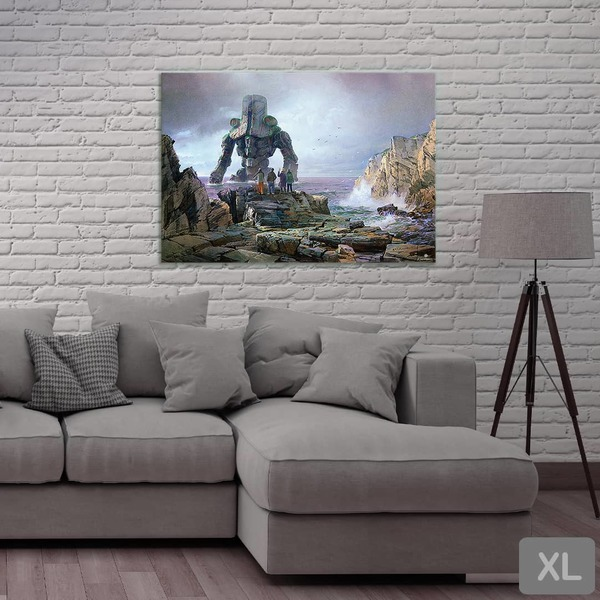Cherno Alpha at Rocky Coast - Print wall XL