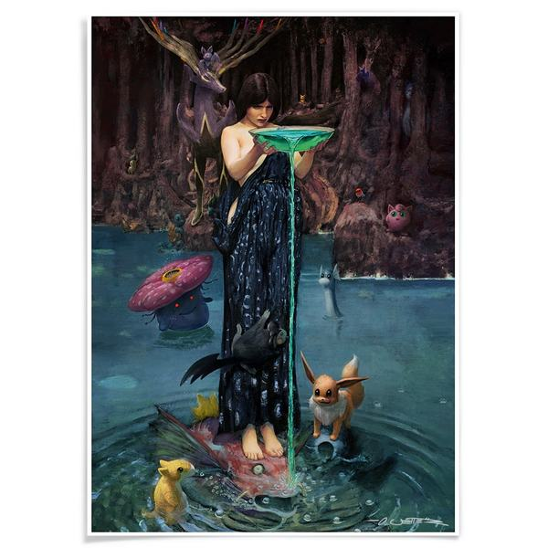 Circe - Mother of pokemon A3 Print