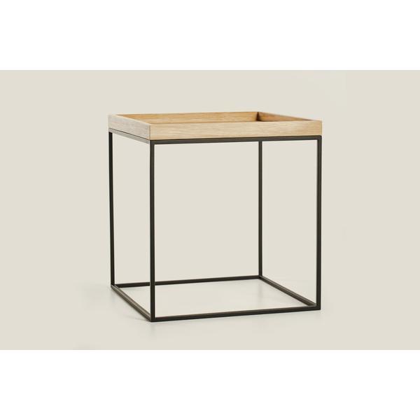 beistelltische aus schwarzem metall holz online kaufen. Black Bedroom Furniture Sets. Home Design Ideas