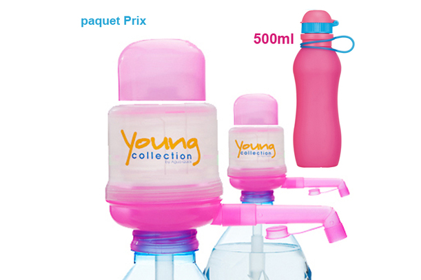 Paquet Special SP  |  2 Pump Young Collection pink plus Viv Bouteile 500ml pink | numéro d'article: 2 YCP plus VIV SP