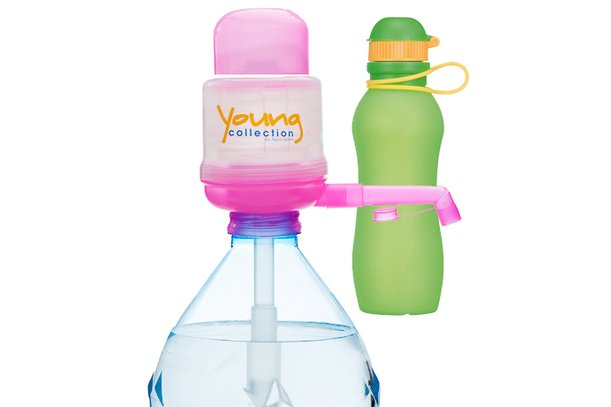 Paquet Special SP  1 pink 500 vert |  1 Pump Young Collection pink plus Viv Bouteile 500ml vert | numéro d'article: 1 YCP plus VIV SP  orange Kopie