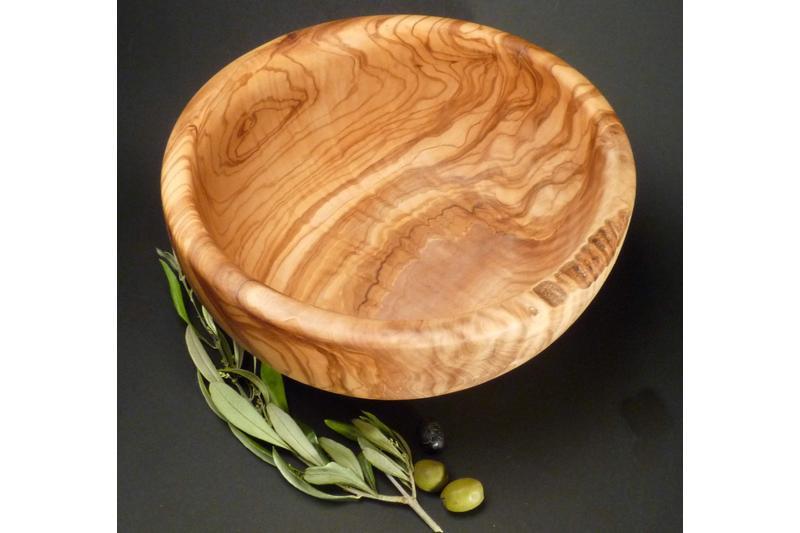 Salatschüssel Holz salatschüssel aus olivenholz 24cm durchmesser