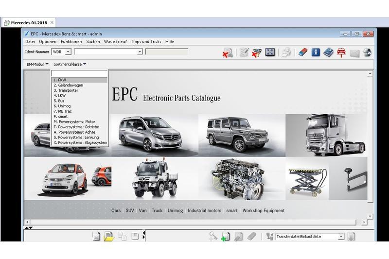Mercedes Benz/Smart 01/2018 -EWA-NET-, Reparaturanleitungen, Schaltpläne,  Ersatzteilkatalog usw  WIS, ASRA, EPC SSL MSS 1986 - 2018