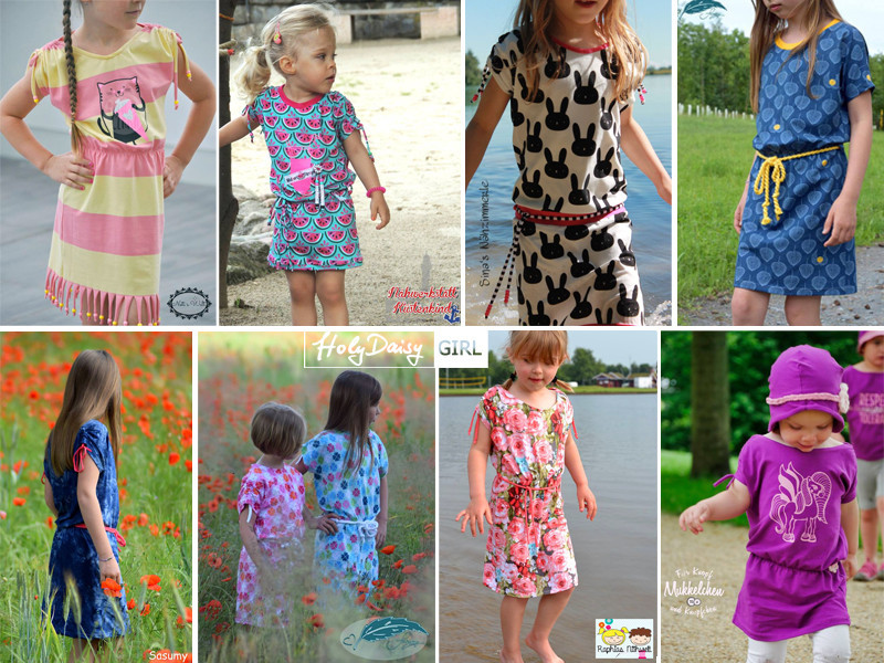 eBook HolyDaisy GIRL Schnittmuster Mädchen Kleid — Opolo