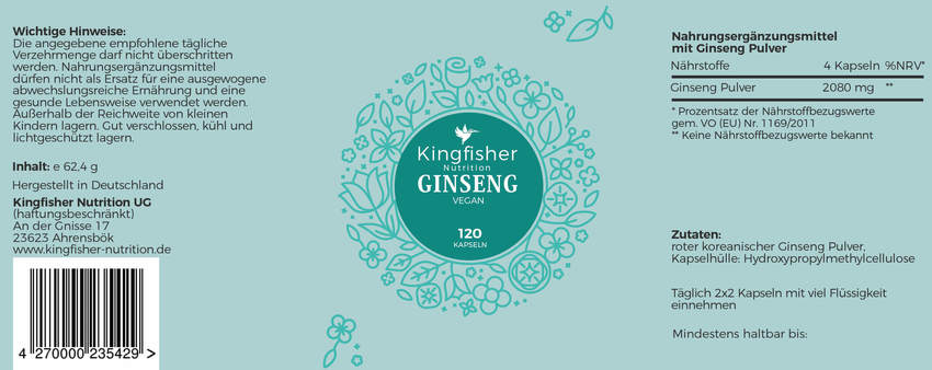 Ginseng Label