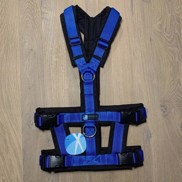 anny-x Brustgeschirr Safety - blau/schwarz
