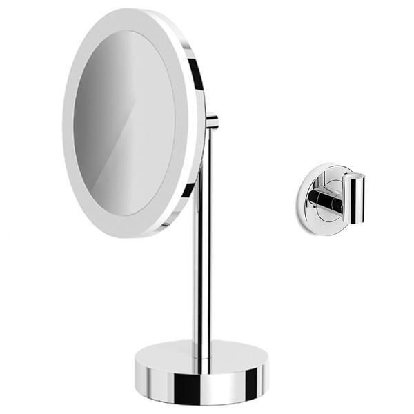 avenarius led kosmetikspiegel 5 fach mit akku stand und wandmodell 9505115010 creativbad. Black Bedroom Furniture Sets. Home Design Ideas