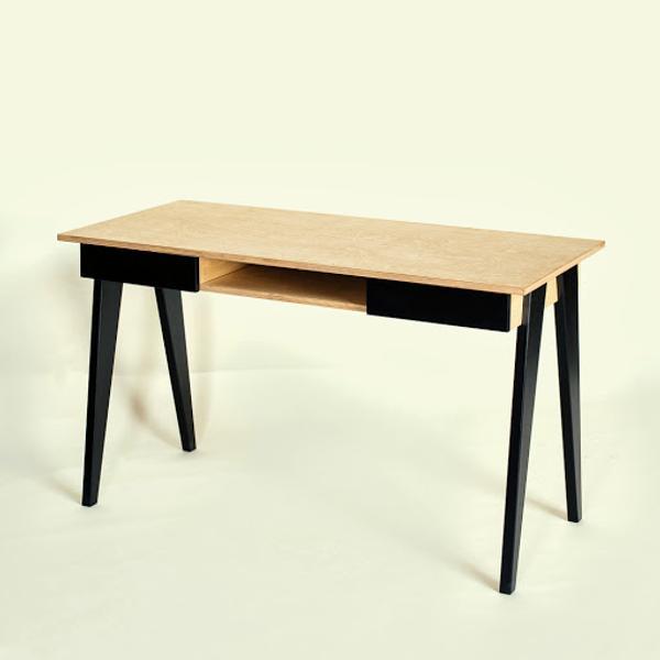 Eckschreibtisch schwarz holz  Design-Schreibtisch aus Holz online kaufen!