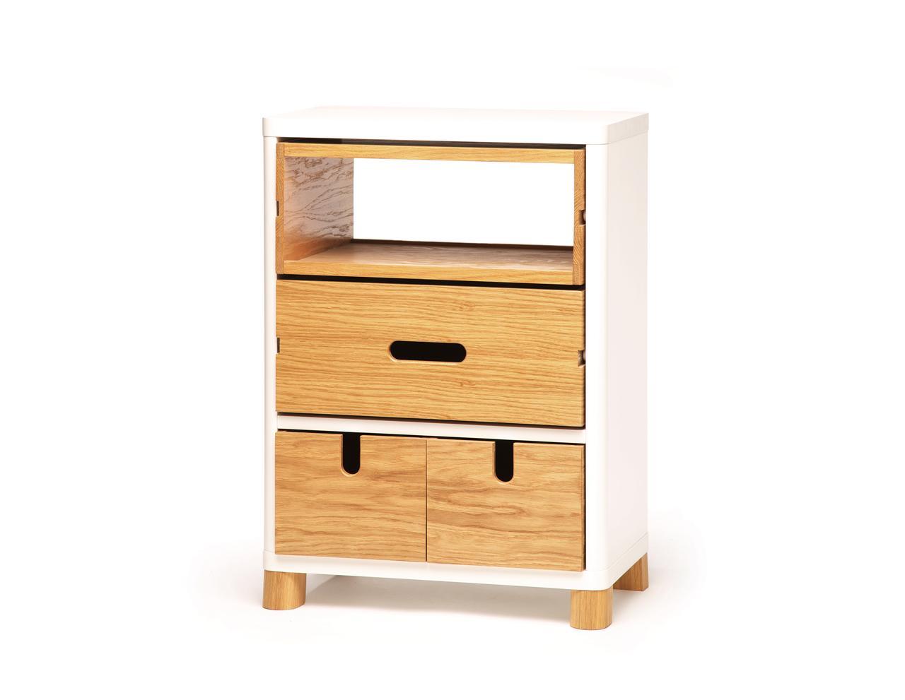 kleine kommode in wei und holz cow. Black Bedroom Furniture Sets. Home Design Ideas