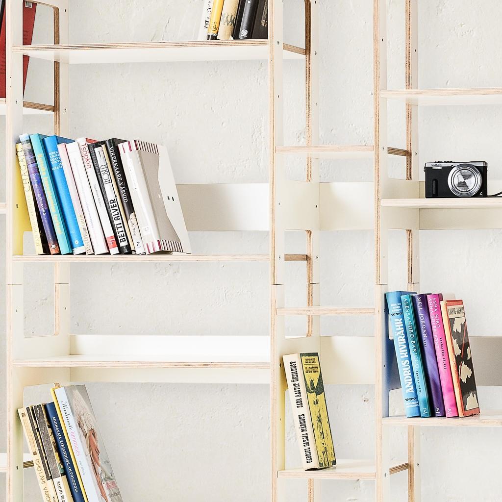 Bücherregal weiß wand  Bücherregal LIFT - großes Wandregal in weiß
