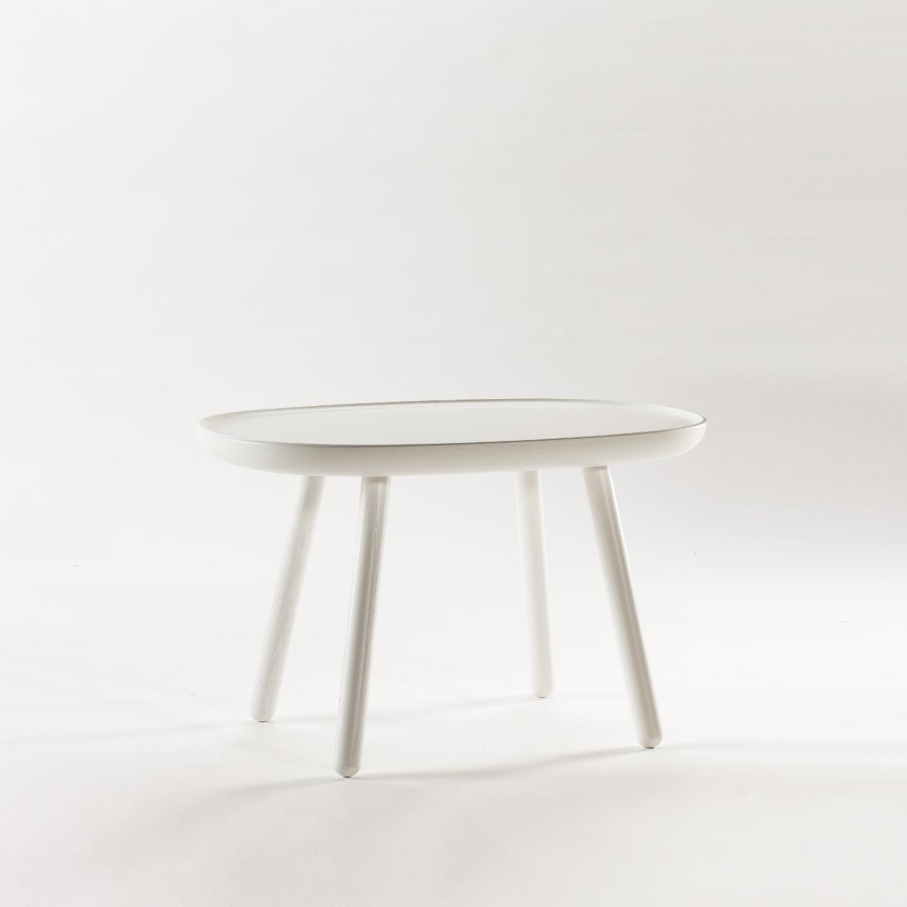 Beistelltisch Oval Aus Holz Weiss Emko