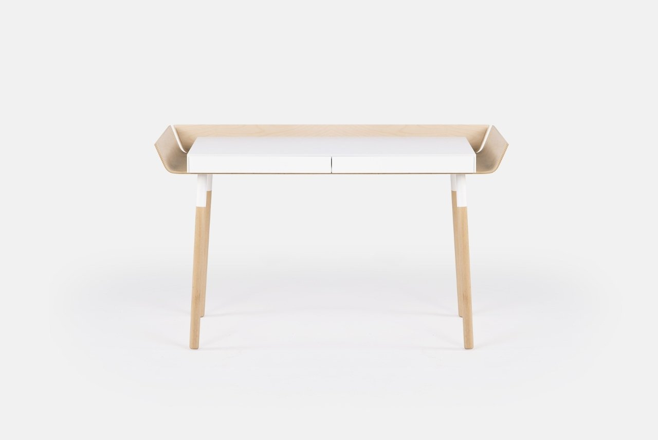 Schreibtisch my writing desk in Weiß & Holz - EMKO