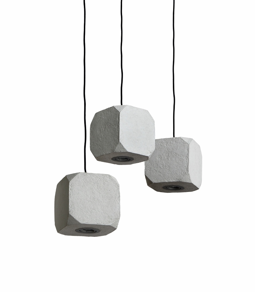 pendellampe kubas in grau beton optik. Black Bedroom Furniture Sets. Home Design Ideas