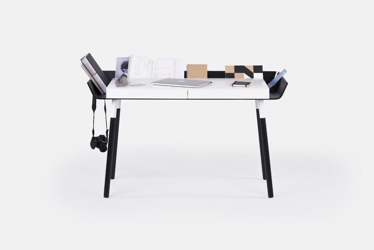 schreibtisch my writing desk in schwarz wei emko. Black Bedroom Furniture Sets. Home Design Ideas
